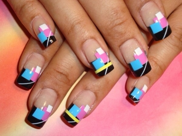 40 Cool and Simple Acrylic Nail Designs 25