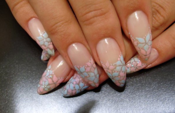 40 Cool and Simple Acrylic Nail Designs 28