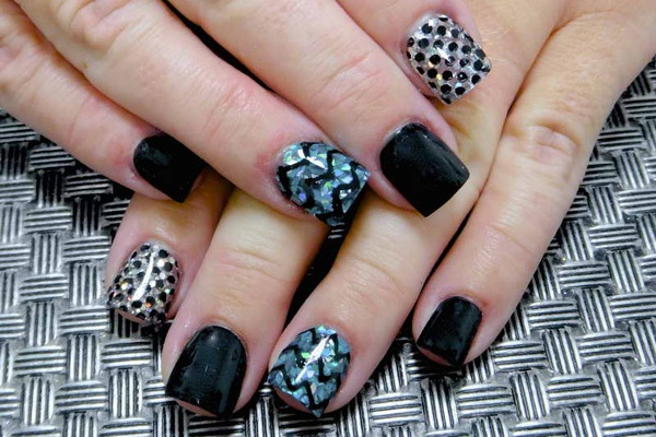 40 Cool and Simple Acrylic Nail Designs 32