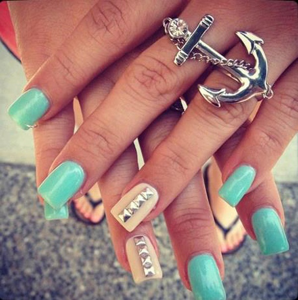 40 Cool and Simple Acrylic Nail Designs 34