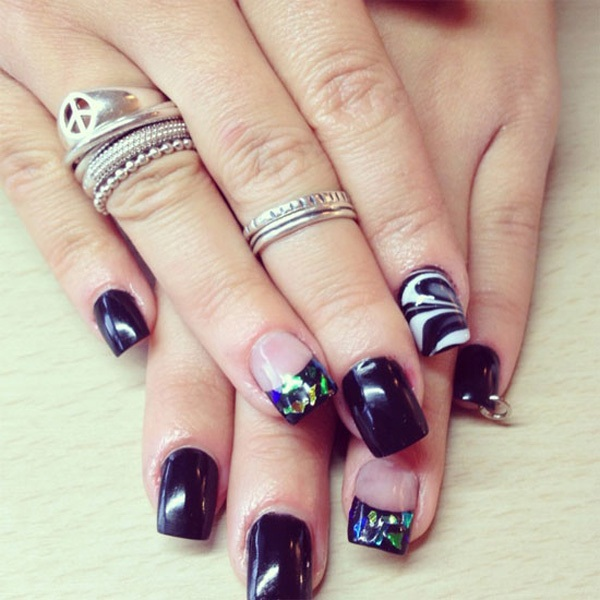 40 Cool and Simple Acrylic Nail Designs 37