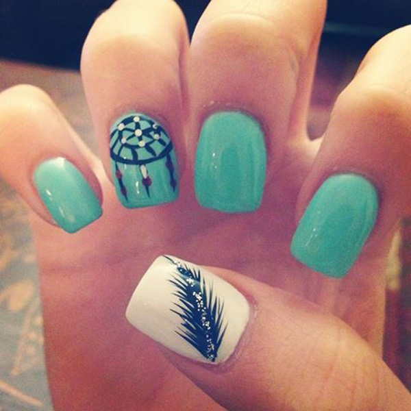 40 Cool and Simple Acrylic Nail Designs 7