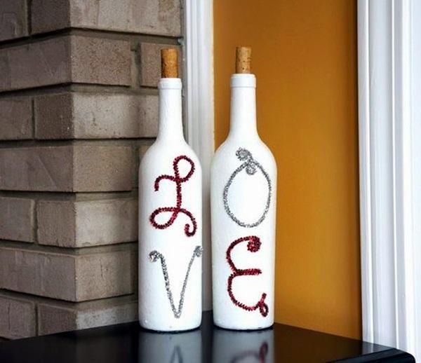 Cool Wine Bottles Craft Ideas (13)