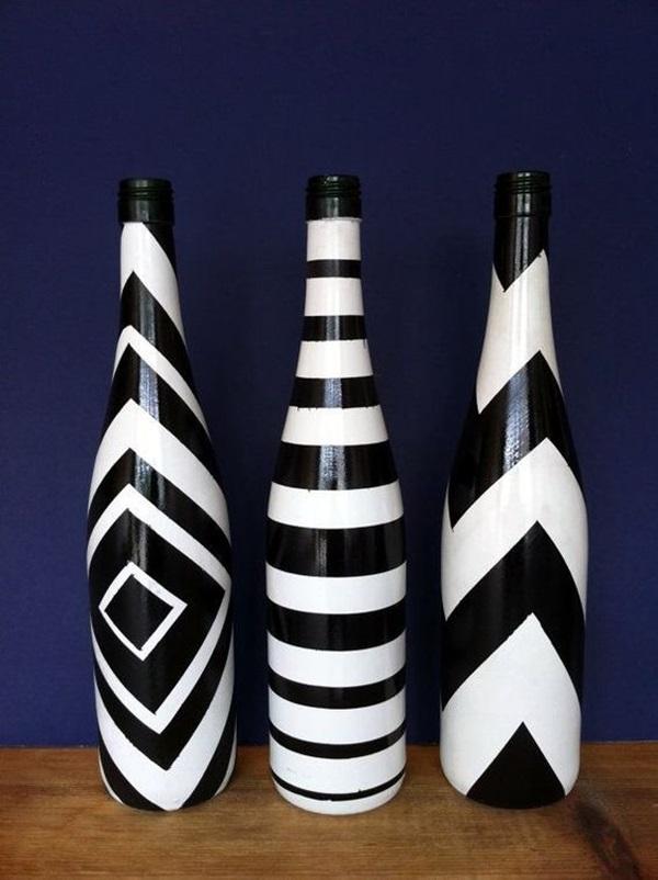 Cool Wine Bottles Craft Ideas (18)