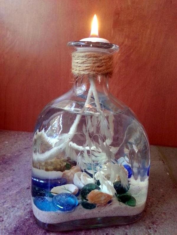 Cool Wine Bottles Craft Ideas (2)