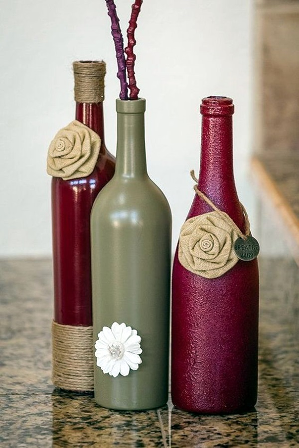 60 cool wine bottles craft ideas