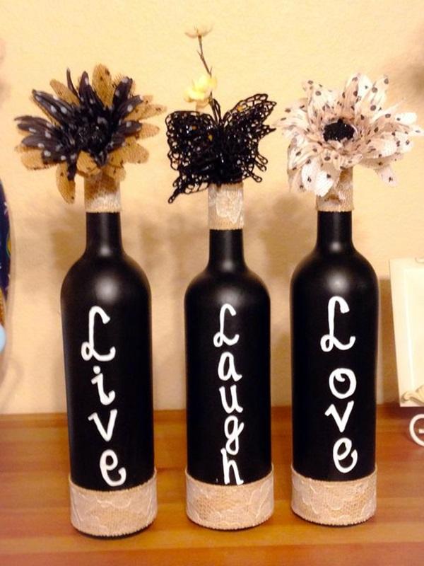 Cool Wine Bottles Craft Ideas (21)