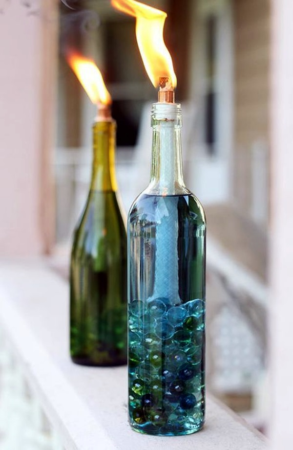 40 cool wine bottles craft ideas for Cool things to do with a wine bottle