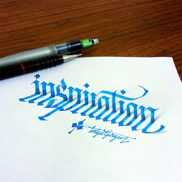 Mind Boggling 3D Calligraphy Examples By Tolga Girgin (1)