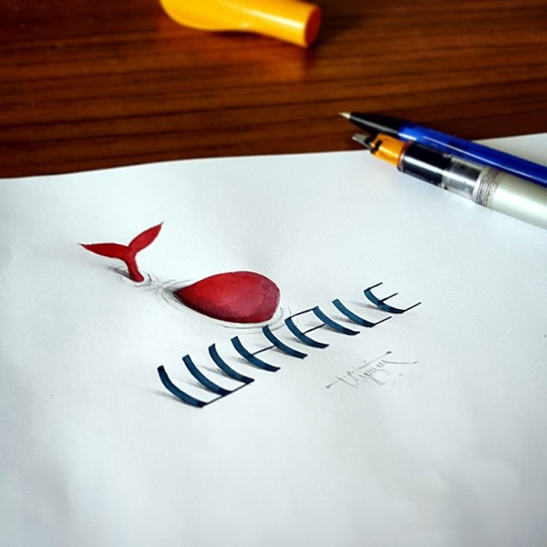 Mind Boggling 3D Calligraphy Examples By Tolga Girgin (10)
