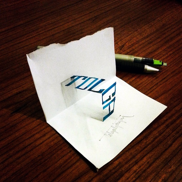 Mind Boggling 3D Calligraphy Examples By Tolga Girgin (12)