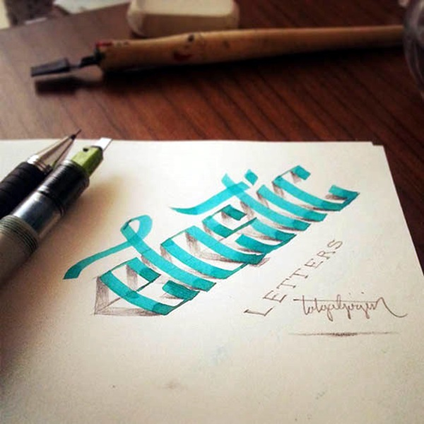 Mind Boggling 3D Calligraphy Examples By Tolga Girgin (15)