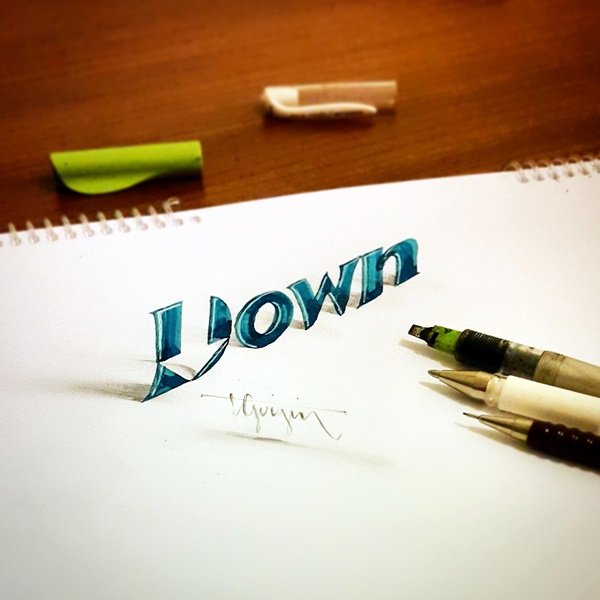 Mind Boggling 3D Calligraphy Examples By Tolga Girgin (17)
