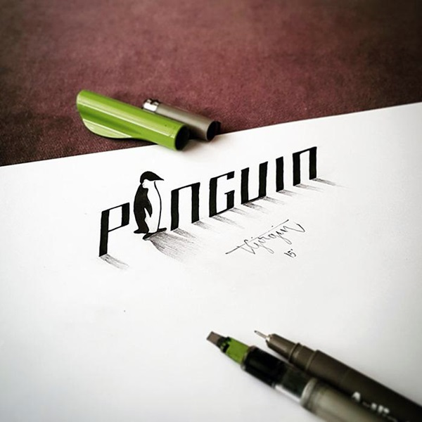 Mind Boggling 3D Calligraphy Examples By Tolga Girgin (21)