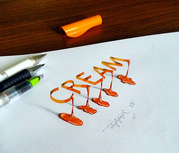 Mind Boggling 3D Calligraphy Examples By Tolga Girgin (22)