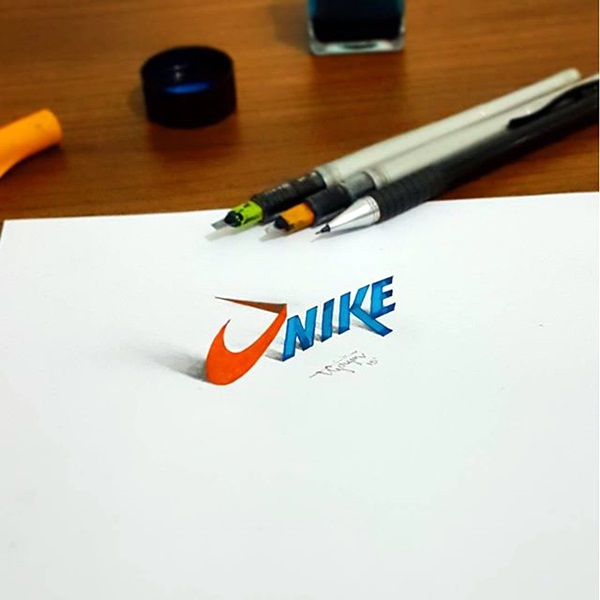 Mind Boggling 3D Calligraphy Examples By Tolga Girgin (8)