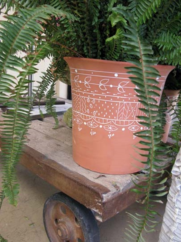 30 Flower Pot Painting Ideas 19