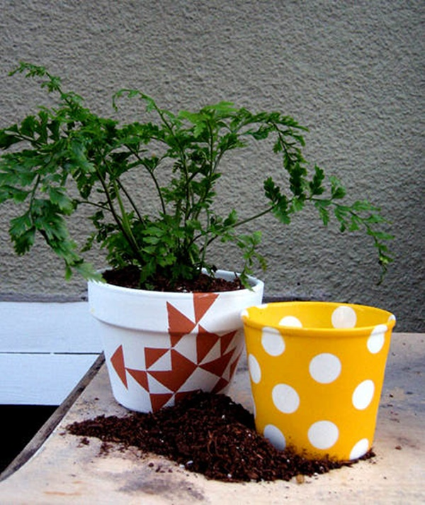 30 Flower Pot Painting Ideas 23