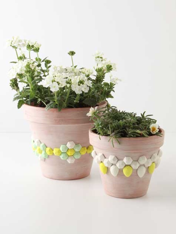 30 Flower Pot Painting Ideas 24