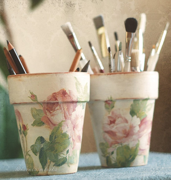 30 Flower Pot Painting Ideas 27