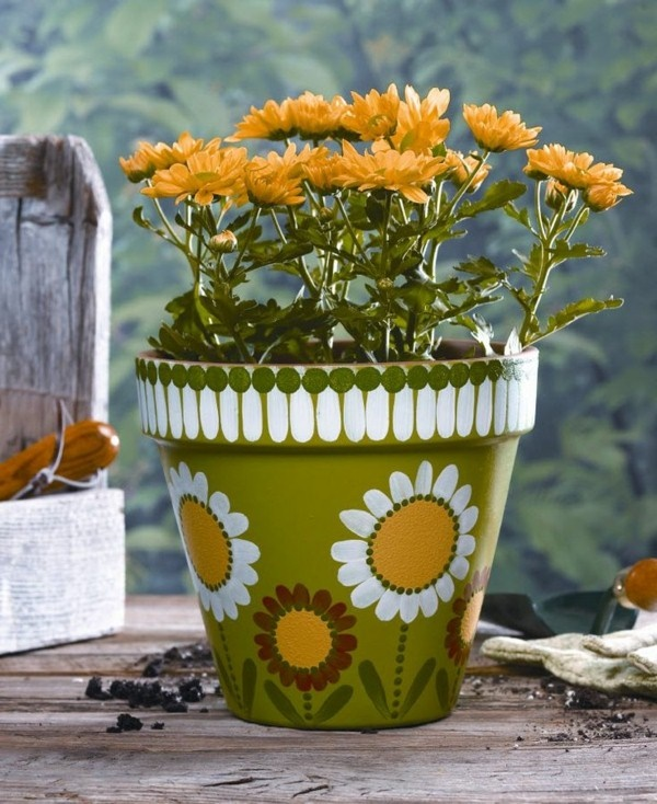 30 Flower Pot Painting Ideas 29