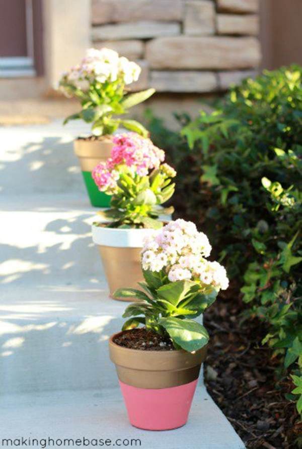 30 Flower Pot Painting Ideas 3