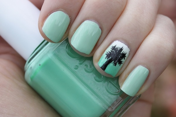 30 Uniquely Beautiful Tree Nail Art Ideas 13