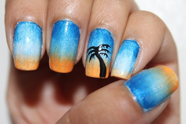 30 Uniquely Beautiful Tree Nail Art Ideas 16