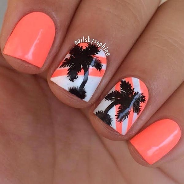30 Uniquely Beautiful Tree Nail Art Ideas 2
