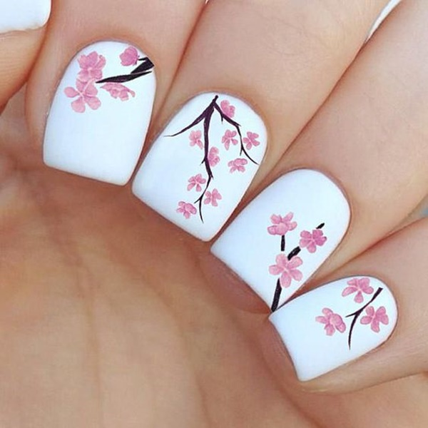 30 Uniquely Beautiful Tree Nail Art Ideas 20
