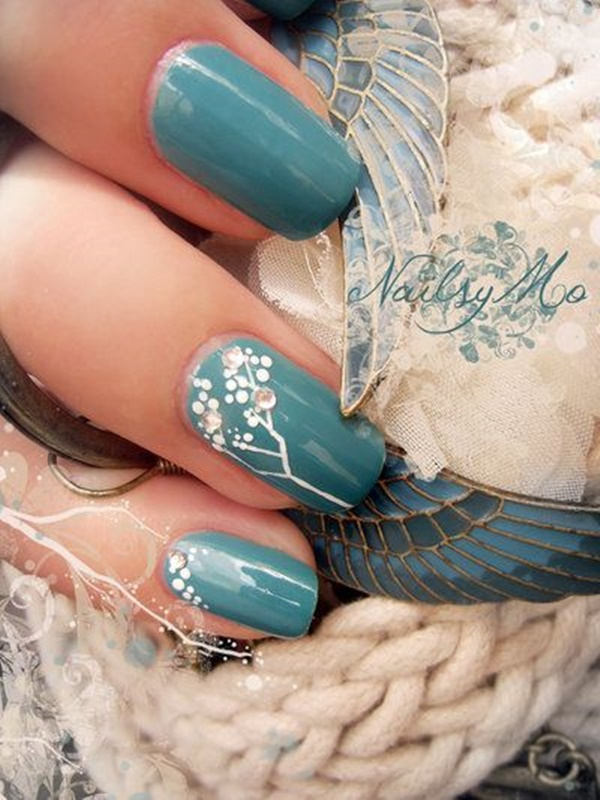 30 Uniquely Beautiful Tree Nail Art Ideas 24