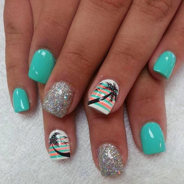 30 Uniquely Beautiful Tree Nail Art Ideas 26