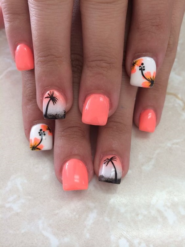 30 Uniquely Beautiful Tree Nail Art Ideas 27