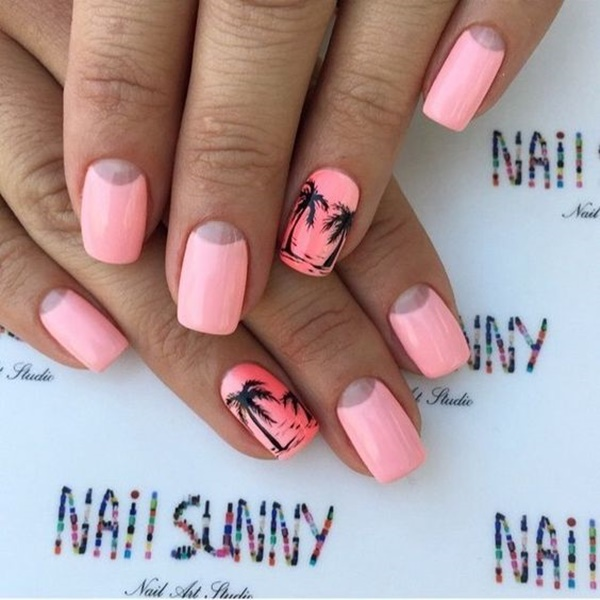 30 Uniquely Beautiful Tree Nail Art Ideas 28