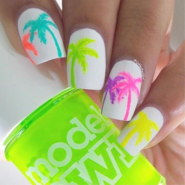 30 Uniquely Beautiful Tree Nail Art Ideas 29