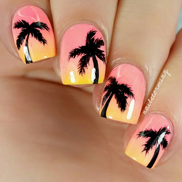 30 Uniquely Beautiful Tree Nail Art Ideas 3