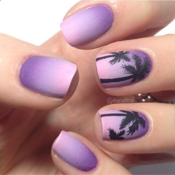 30 Uniquely Beautiful Tree Nail Art Ideas 37