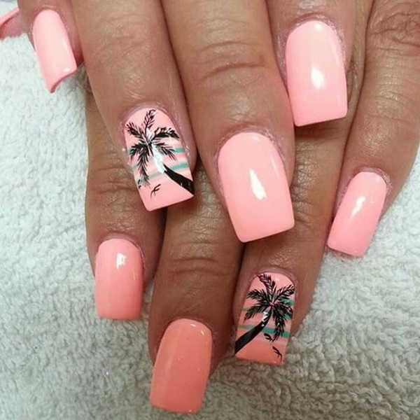 30 Uniquely Beautiful Tree Nail Art Ideas 40