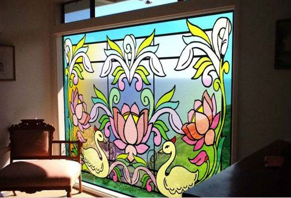 30 Window Glass Painting Ideas for Beginners 1