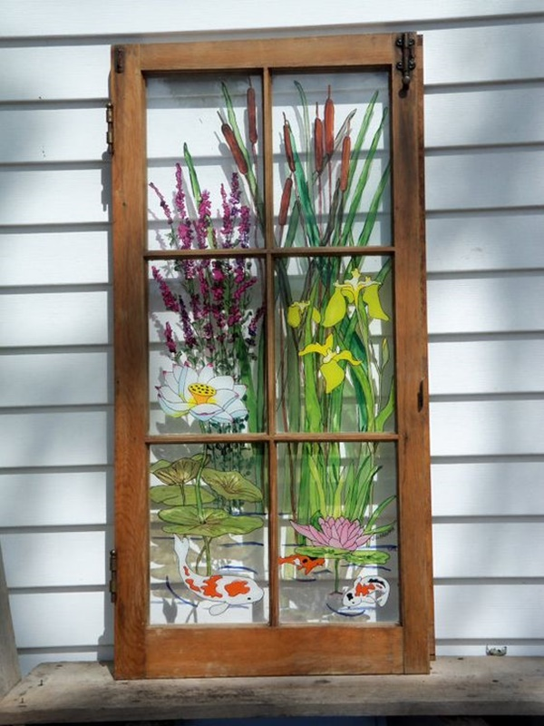 30 Window Glass Painting Ideas for Beginners 10