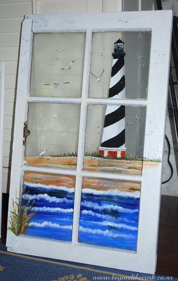 30 Window Glass Painting Ideas for Beginners 11