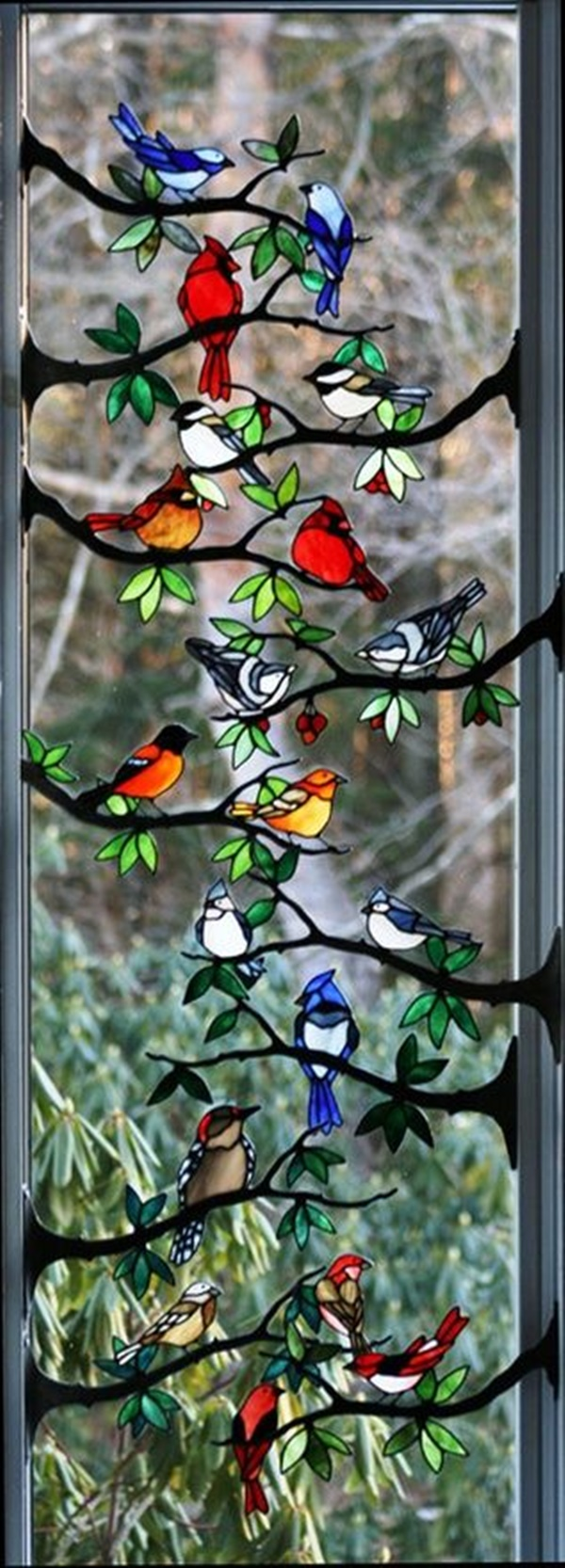 30 Window Glass Painting Ideas for Beginners 12