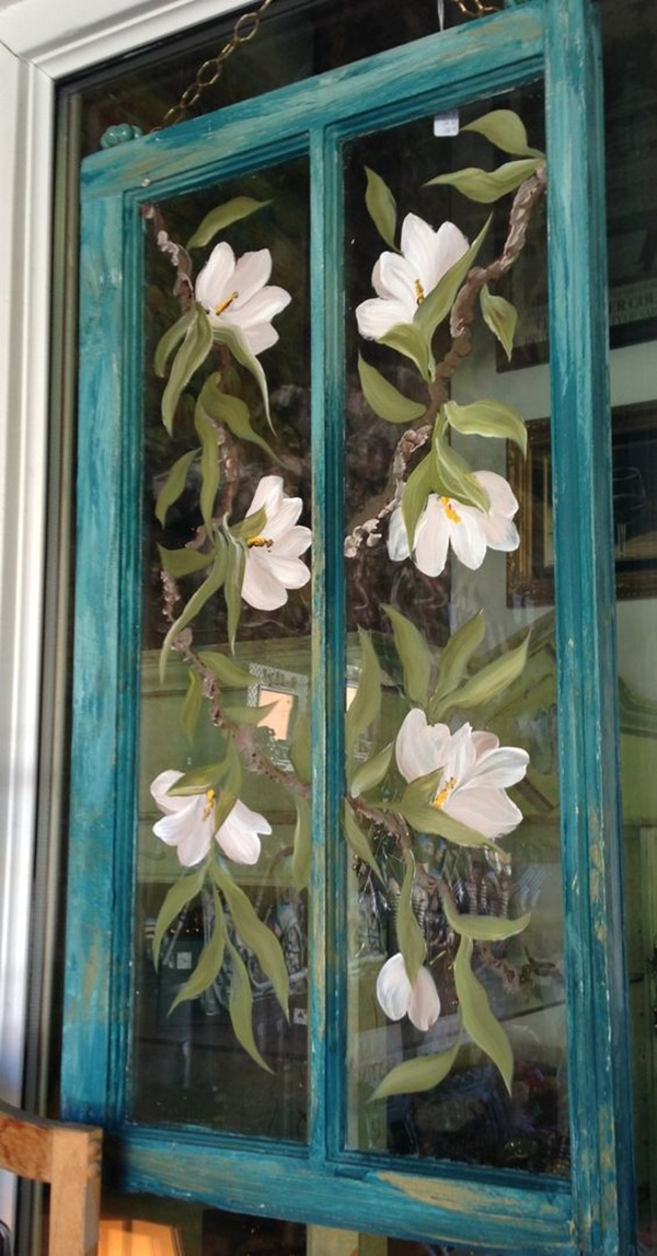 30 Window Glass Painting Ideas for Beginners 17