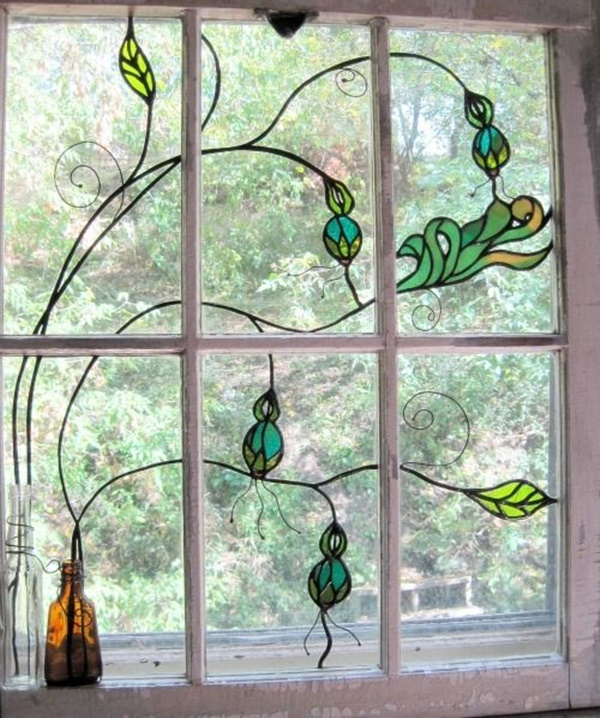 30 Window Glass Painting Ideas for Beginners 21