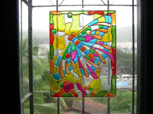 30 Window Glass Painting Ideas for Beginners 6