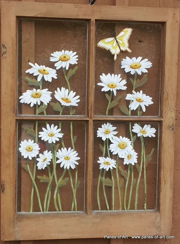 60 window glass painting designs for beginners for Window pane designs