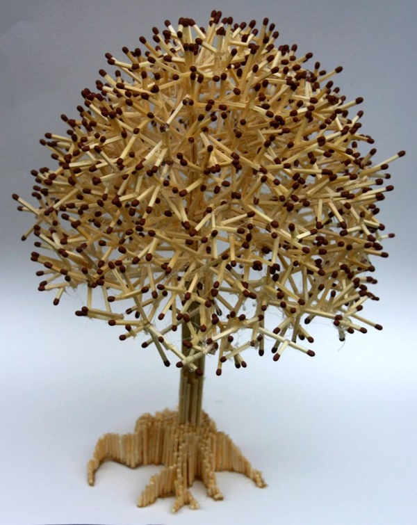 35 Experimental Matchstick Art Ideas 15