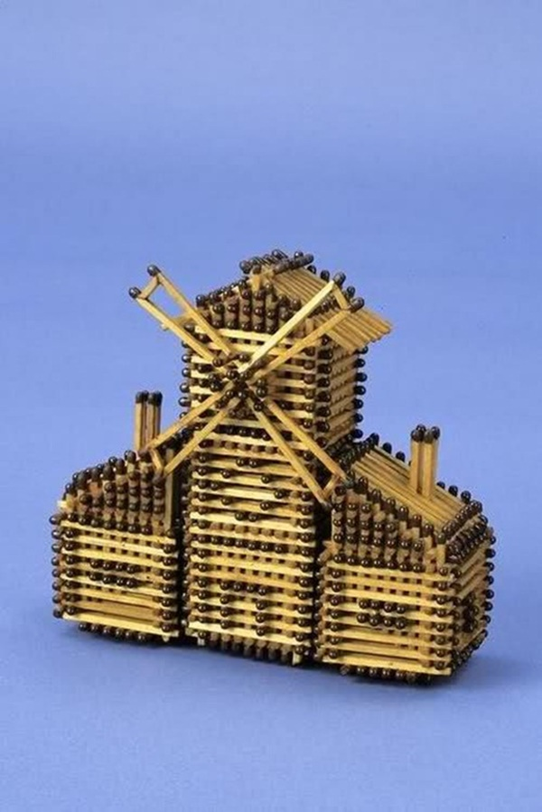 35 Experimental Matchstick Art Ideas 3