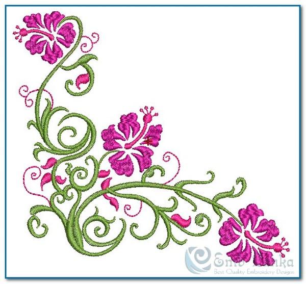 Fantastic flowers designs for embroidery makaroka