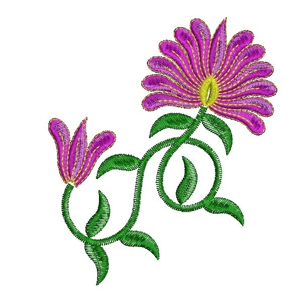 335 Free Hand Embroidery Flower Designs and Ideas 2
